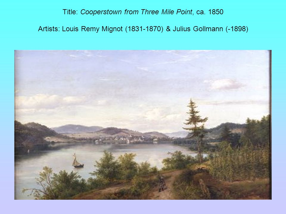 Title: Cooperstown from Three Mile Point, ca.