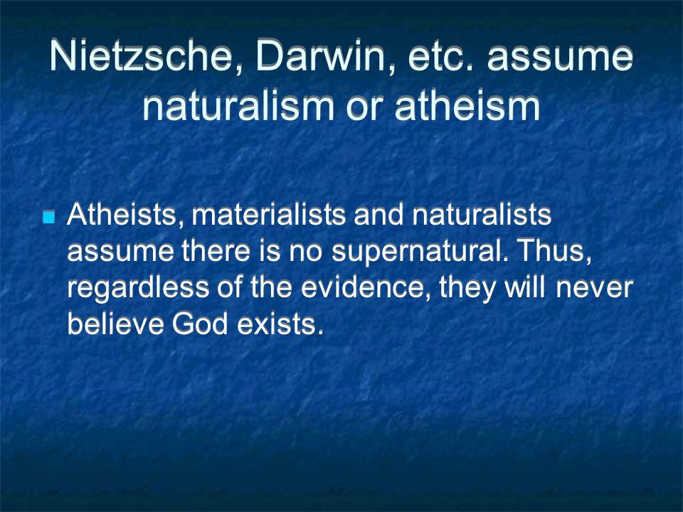 Nietzsche, Darwin, etc.