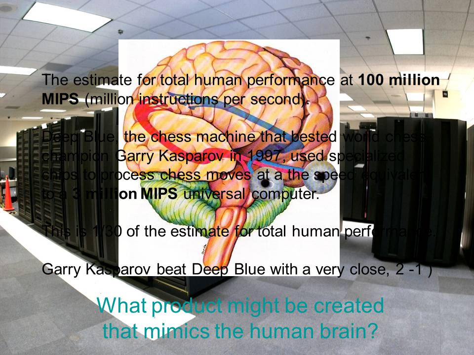 What product might be created that mimics the human brain.