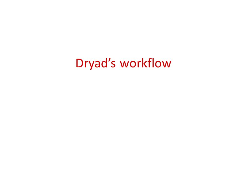 Dryad's workflow
