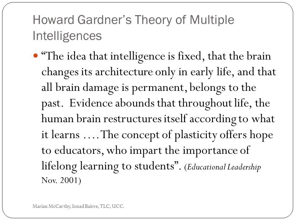 Kornhaber, 1997, Intelligence: Multiple Perspectives Marian McCarthy, Ionad Bairre, TLC, UCC.