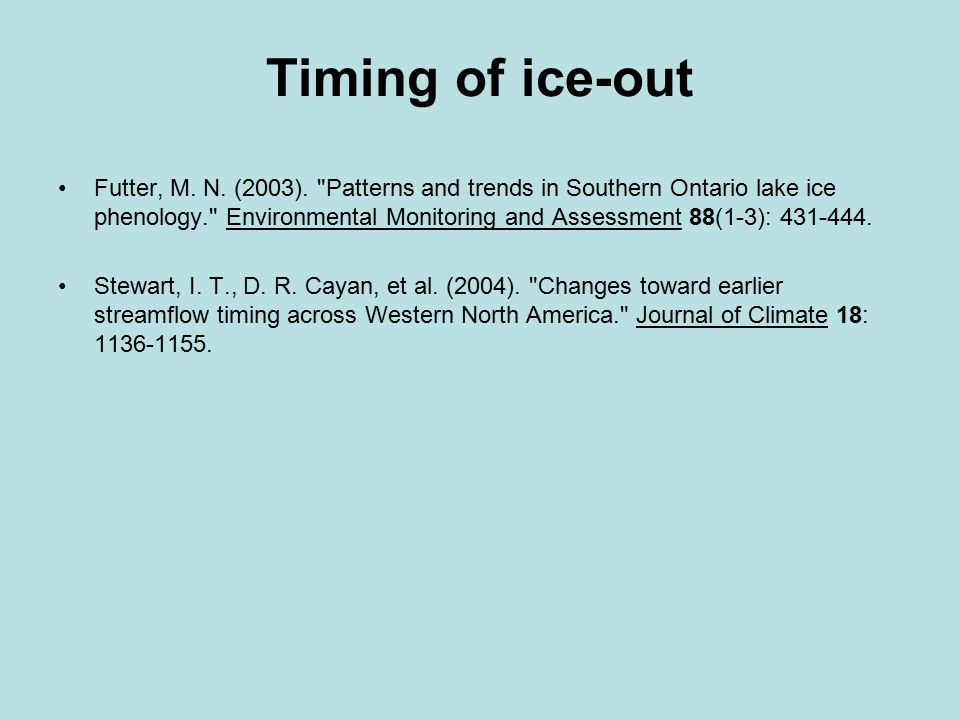 The Nenana Ice Classic was created in 1917 On average, the Tanana River breakup occurs 5.5 days sooner than it did back in 1917.