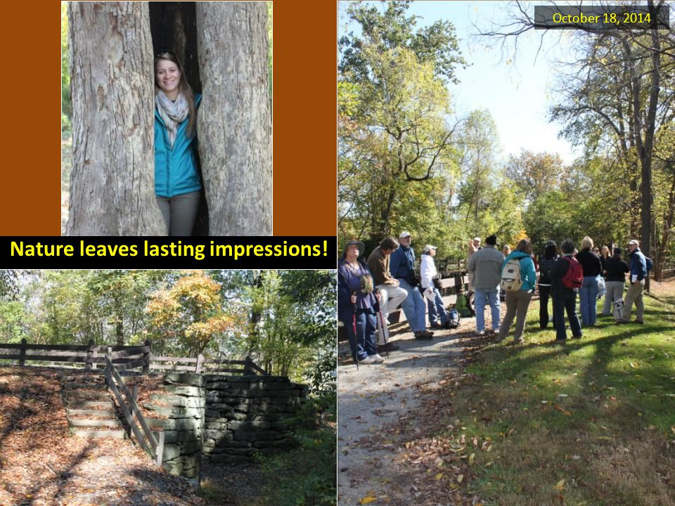 Nature leaves lasting impressions! October 18, 2014
