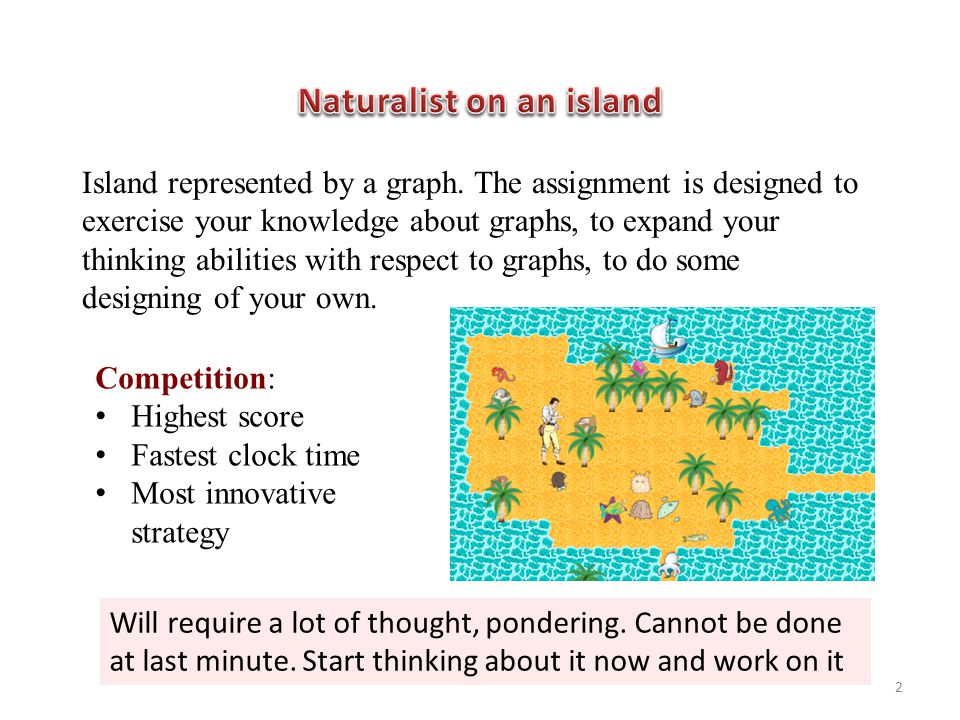 Island represented by a graph.