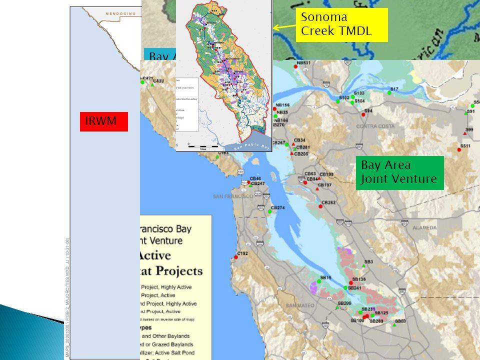 IRWM Bay Area Water Forum Bay Area Joint Venture Sonoma Creek TMDL
