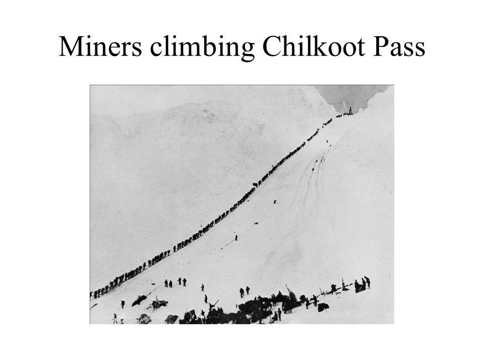Miners climbing Chilkoot Pass