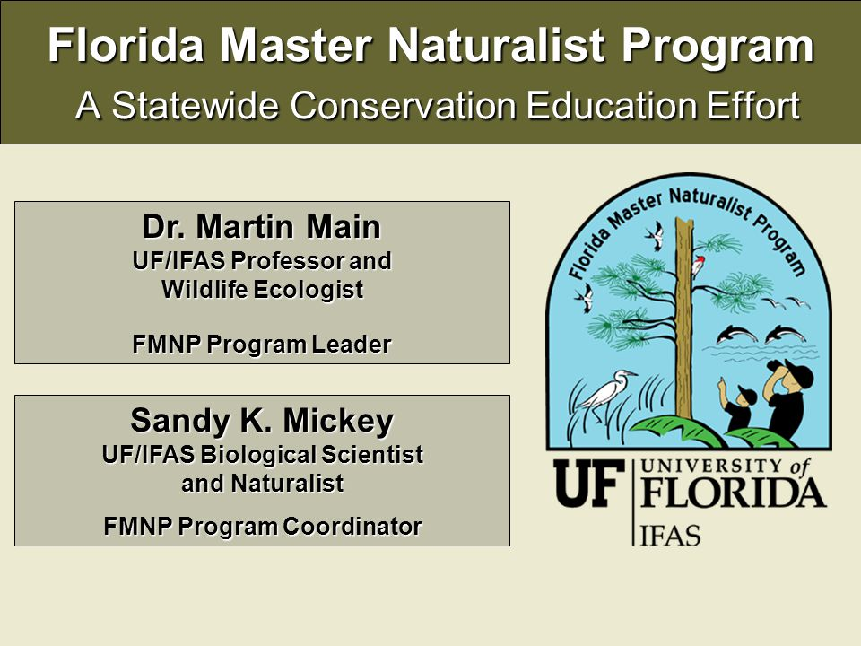 Florida Master Naturalist Program A Statewide Conservation Education Effort Dr.