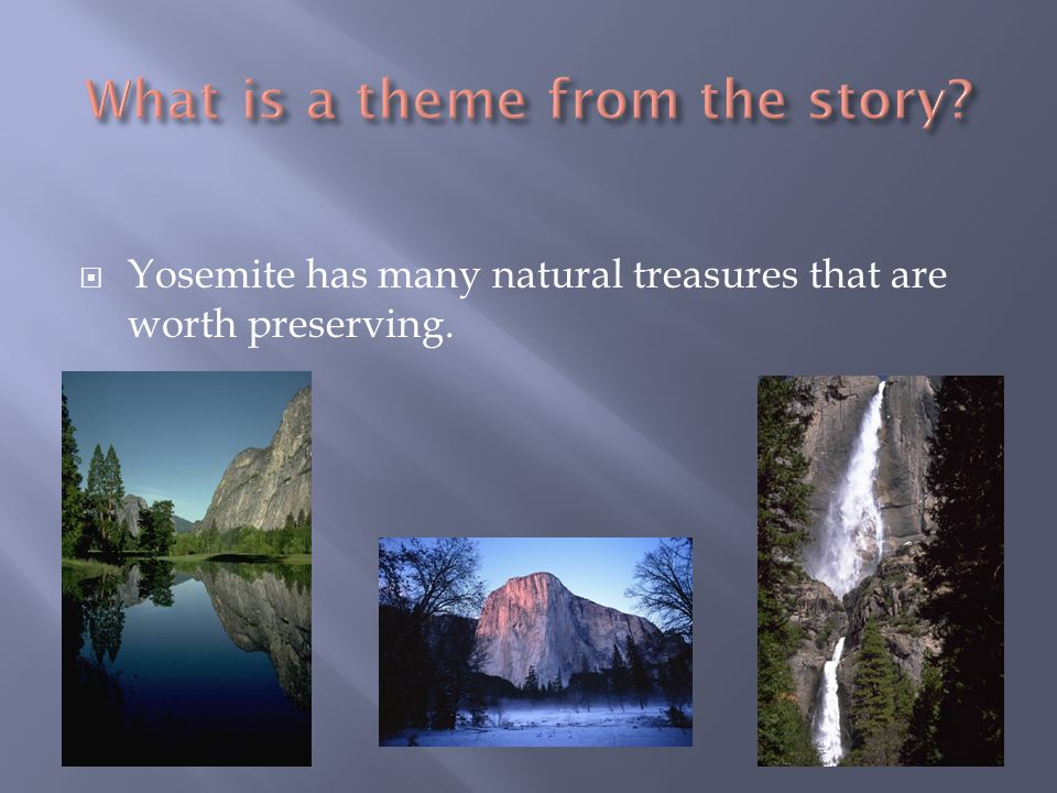  Yosemite has many natural treasures that are worth preserving.