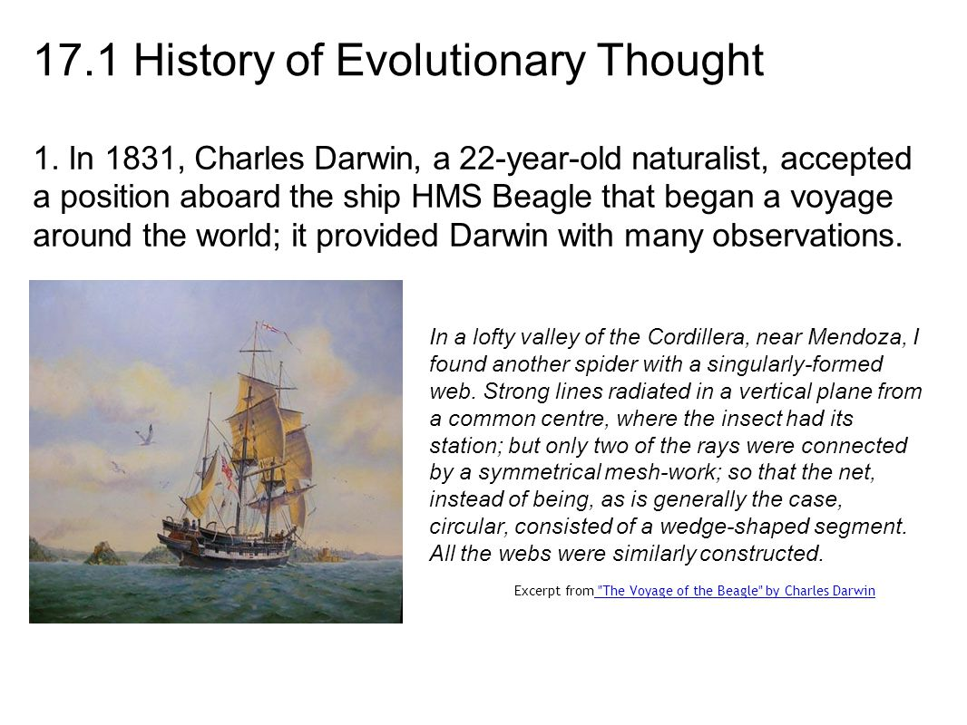 17.1 History of Evolutionary Thought 1.