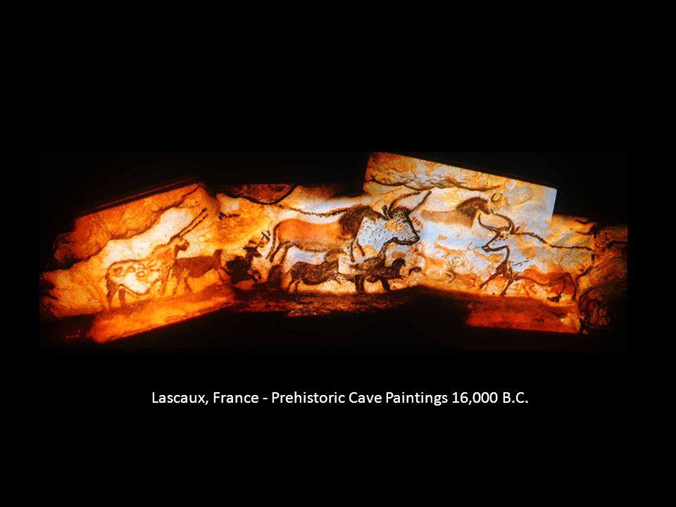 Lascaux, France - Prehistoric Cave Paintings 16,000 B.C.