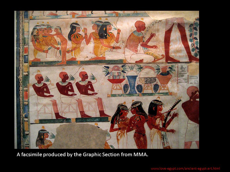 A facsimile produced by the Graphic Section from MMA. www.love-egypt.com/ancient-egypt-art.html