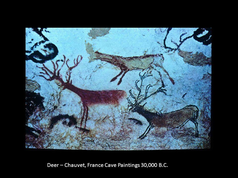 Deer – Chauvet, France Cave Paintings 30,000 B.C.
