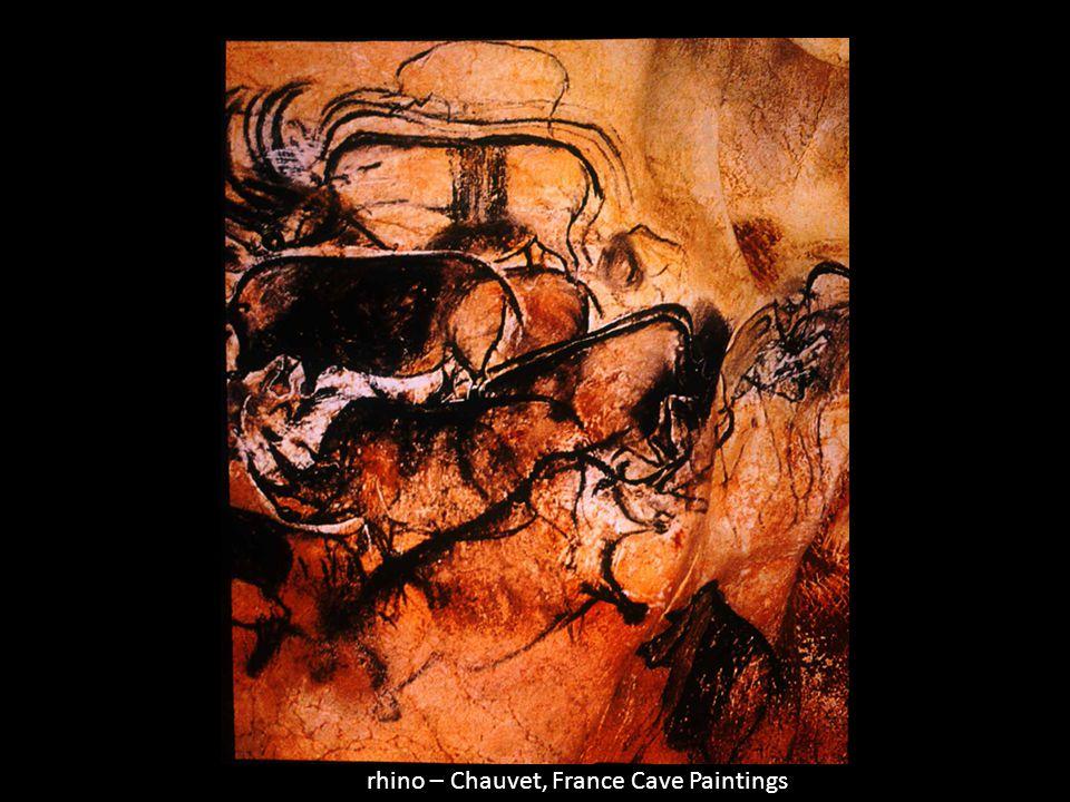 rhino – Chauvet, France Cave Paintings