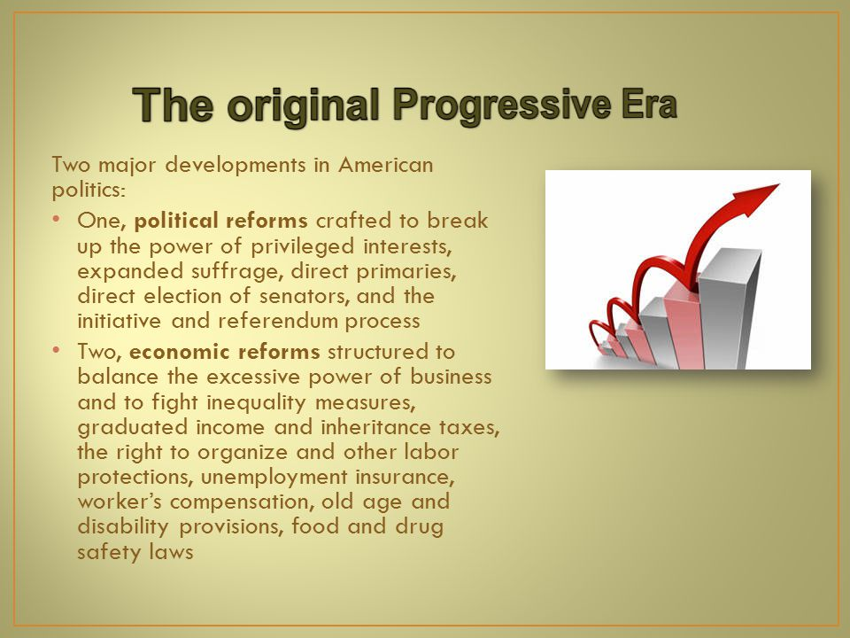 Progressivism throughout the years stressed a range of ideals that remain important today: Freedom The common good Pragmatism Equality Social justice Democracy Cooperation and interdependence