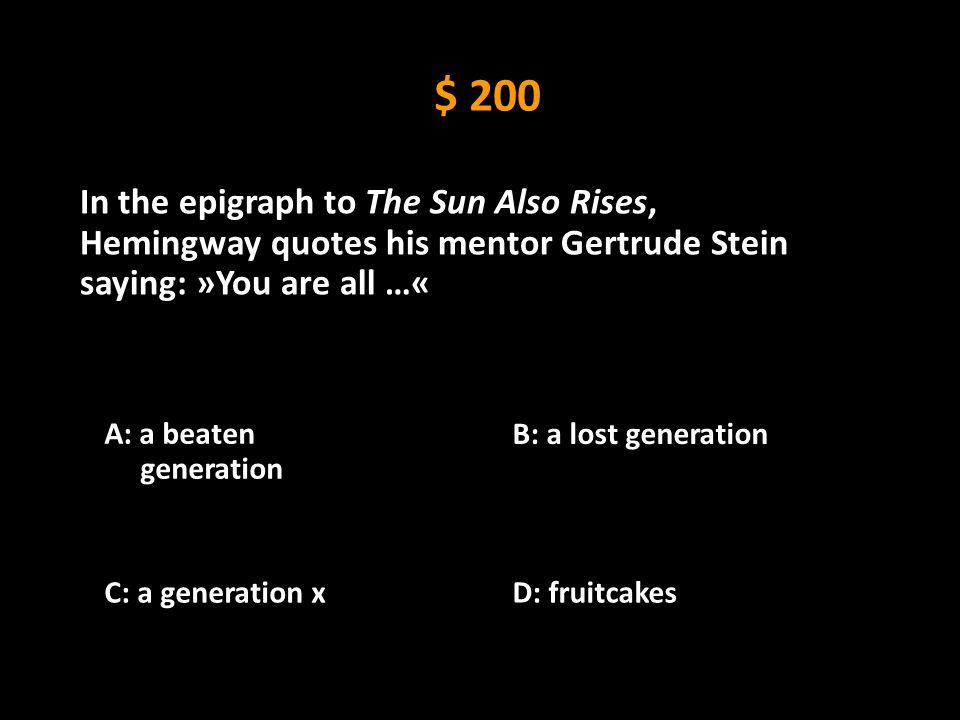 Ernest Hemingway (1899-1961) Hemingway Look-alike Contest