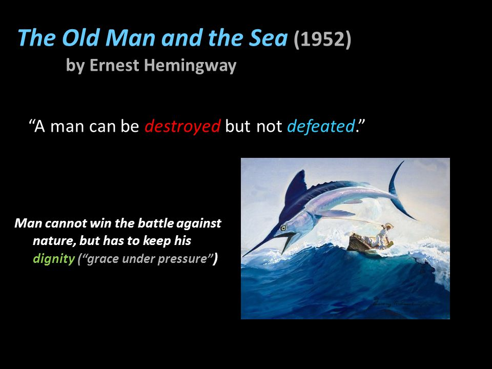 Important works by Hemingway In Our Time (1925) (first collection of short stories which established the Hemingway style ) Death in the Afternoon (1932) (non-fictional work about Spanish bullfighting) The Old Man and the Sea (1952) (nobel-prize winning novel) The Sun Also Rises (1926) (novel about American expatriates living in Paris)