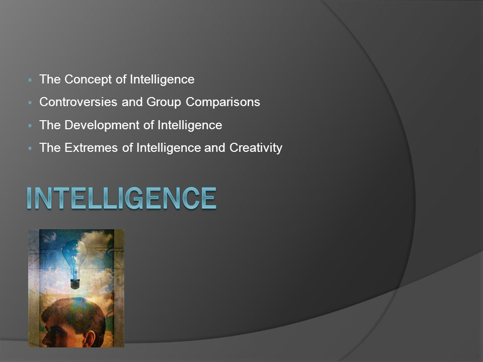 Comparing the Intelligences The Concept of Intelligence