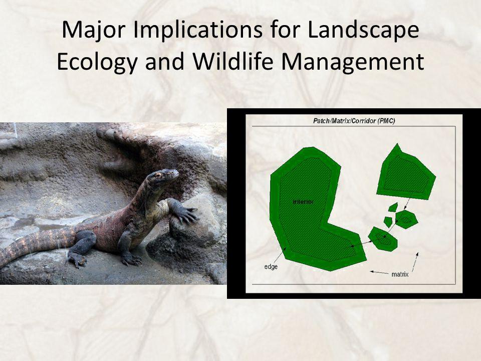 Major Implications for Landscape Ecology and Wildlife Management