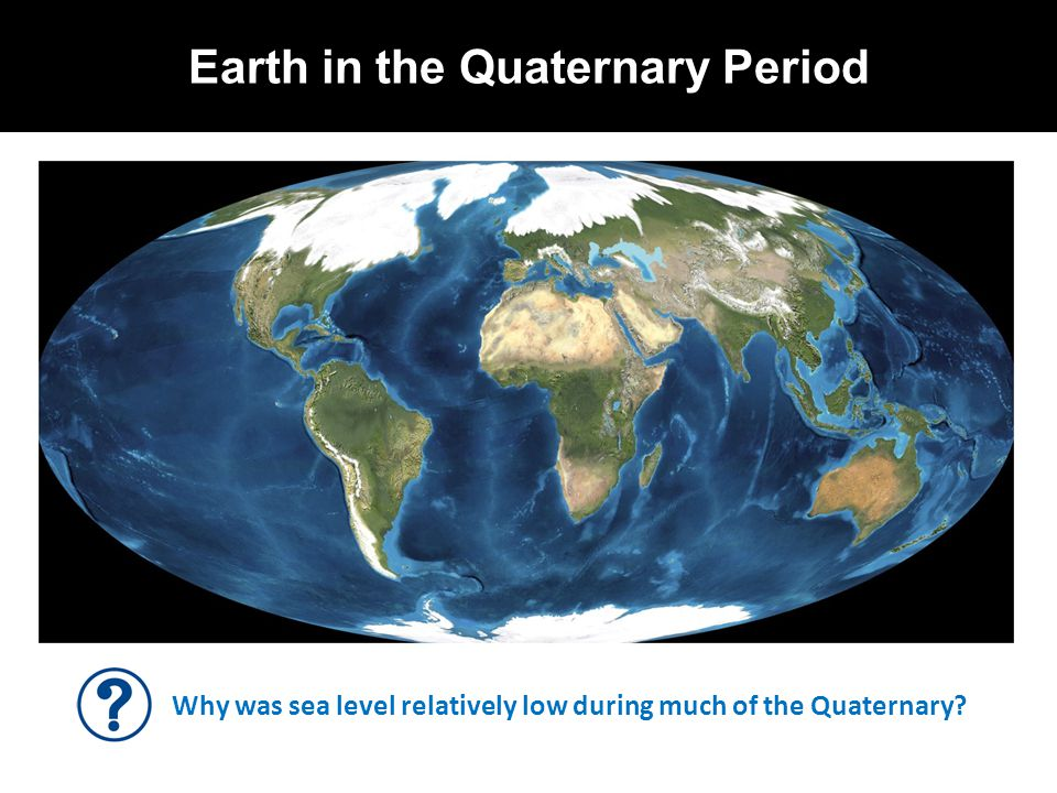 Earth in the Quaternary Period Why was sea level relatively low during much of the Quaternary?