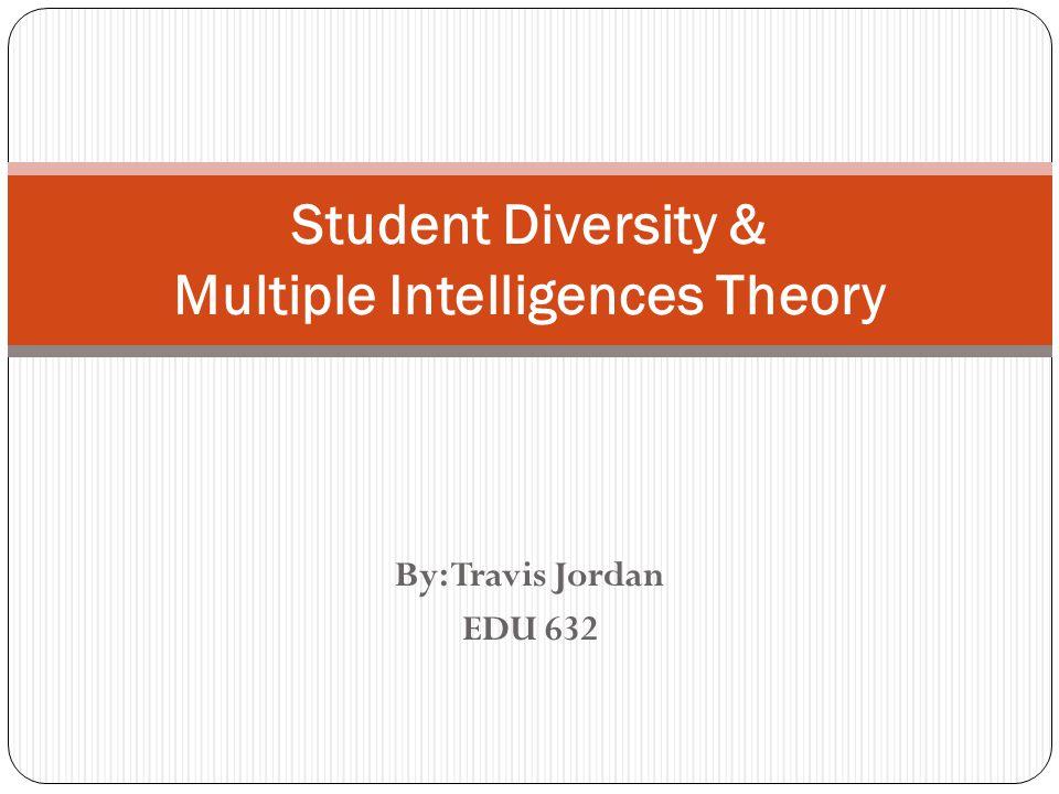 By: Travis Jordan EDU 632 Student Diversity & Multiple Intelligences Theory