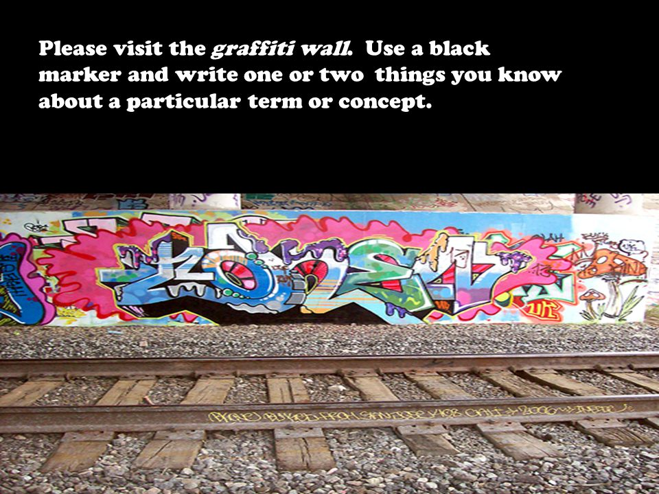 Please visit the graffiti wall.