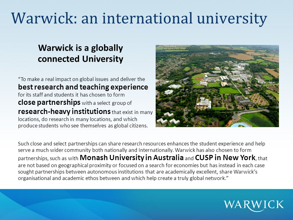 Some examples of our collaborative, energy-related projects with international partners:  Centre for Urban Sciences and Progress (CUSP) – Warwick is part of this New York-based initiative, which has been developing rapid energy modelling technology for cityscapes.