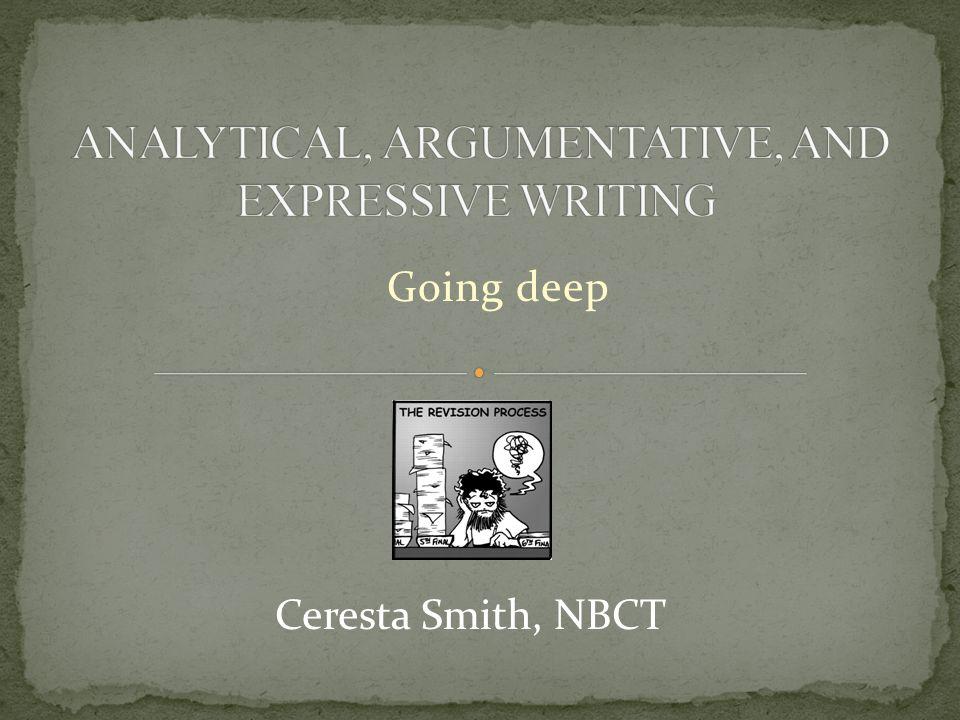 Going deep Ceresta Smith, NBCT