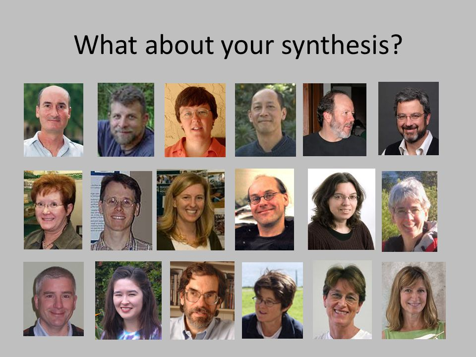 What about your synthesis