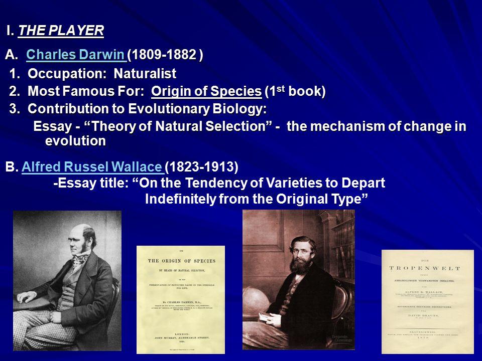 A. Charles Darwin (1809-1882 ) Charles Darwin Charles Darwin 1.