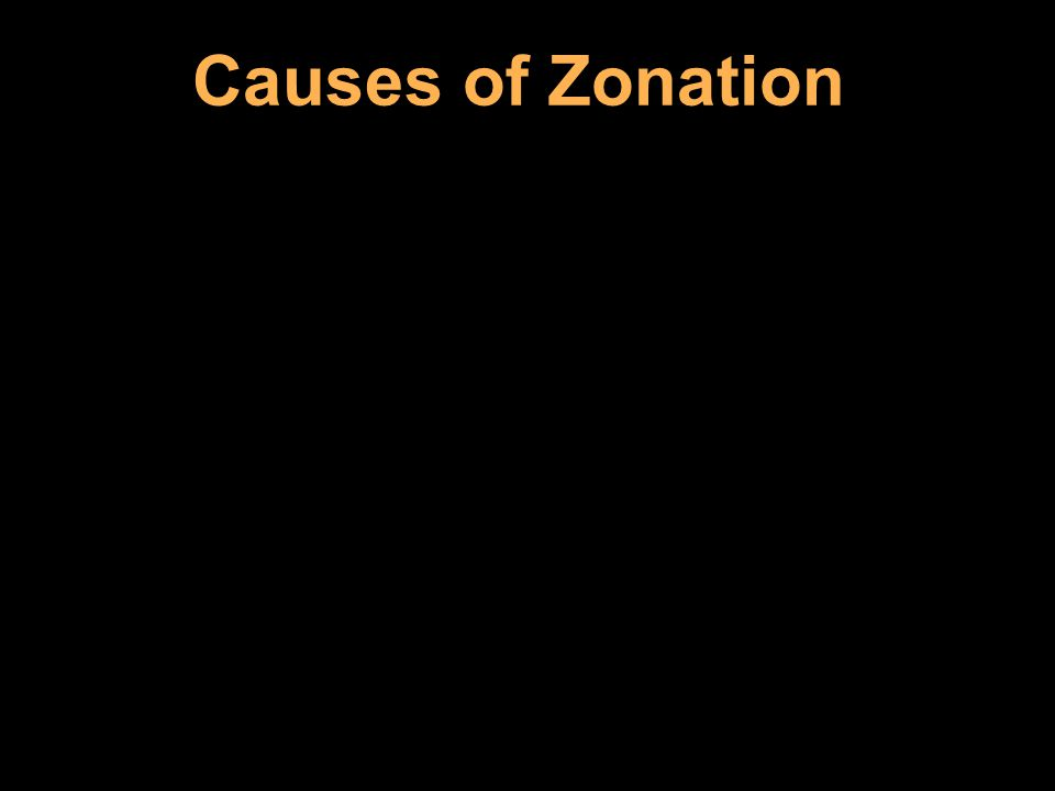 Causes of Zonation
