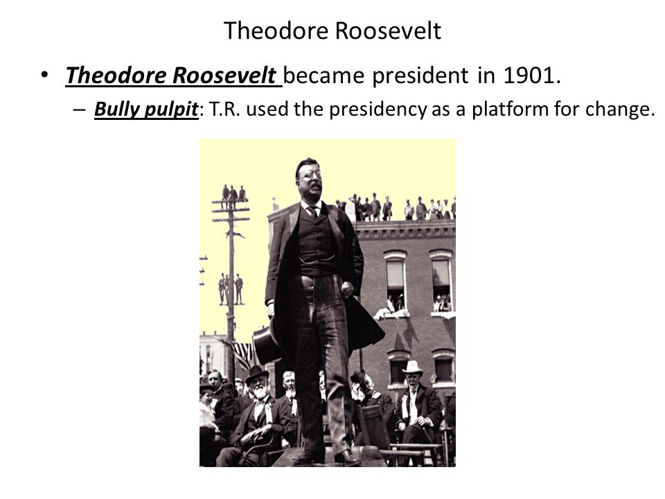 Roosevelt's Presidency 1902 - Roosevelt broke up a major coal strike by threatening to take control of the mines.