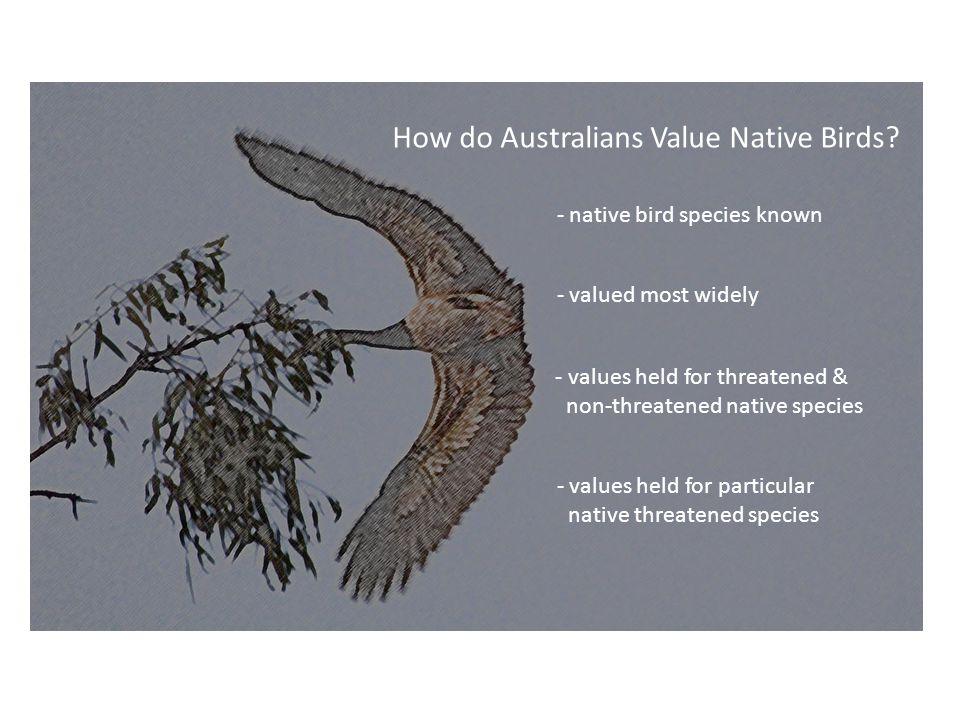 How do Australians Value Native Birds.