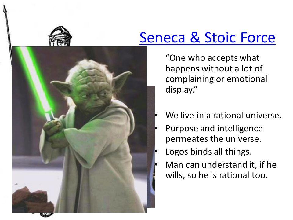 Stoics Adopt Socrates' Calm Sense of Civic Responsibility Cosmopolitan: socially active beings.