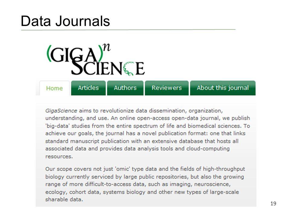 19 Data Journals