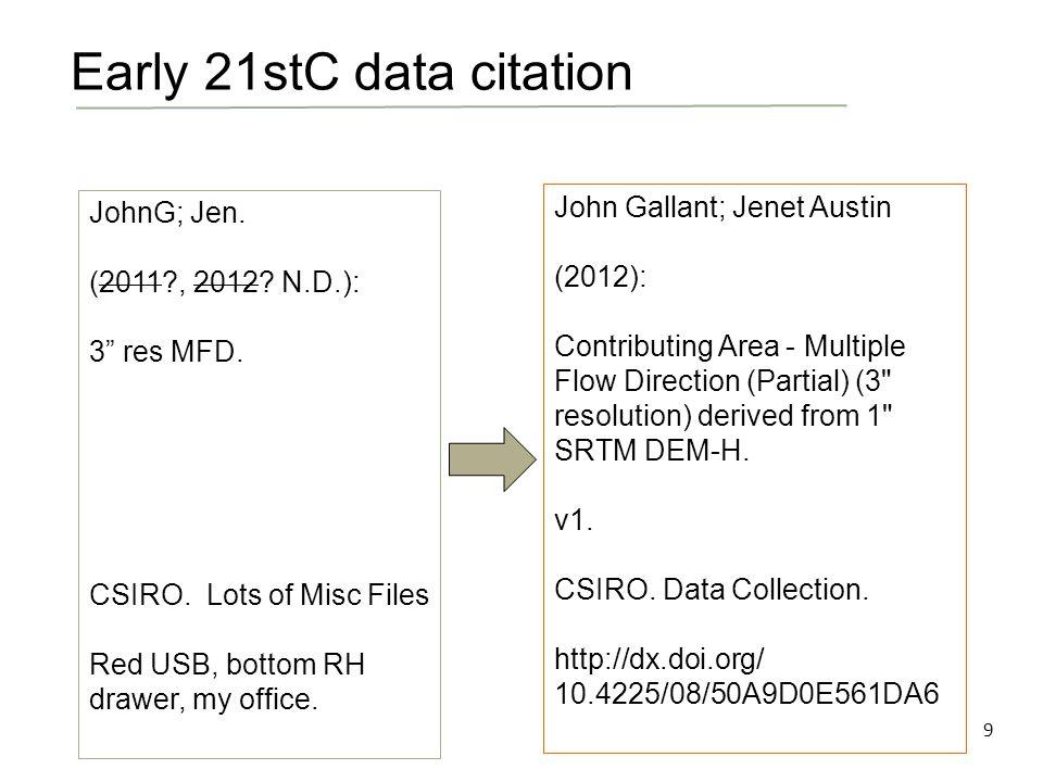 9 JohnG; Jen. (2011 , 2012. N.D.): 3 res MFD. CSIRO.