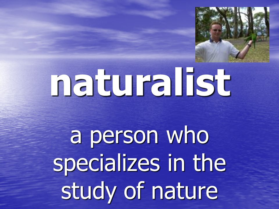 naturalist a person who specializes in the study of nature