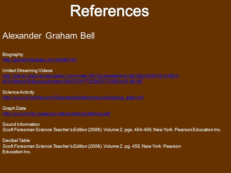 Thomas Edison Graphic Organizer Scott Foresman Science Teacher's Edition (2006). Volume 2 Pg. 473. New York: Pearson Education Inc. Information on Ele