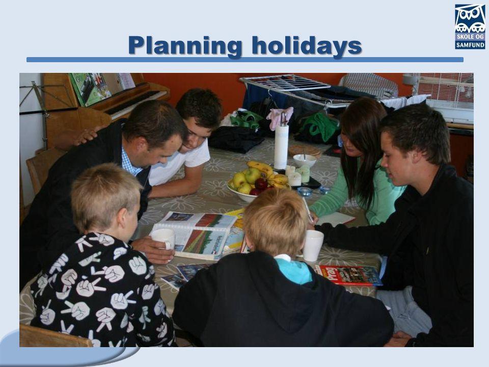 Planning holidays