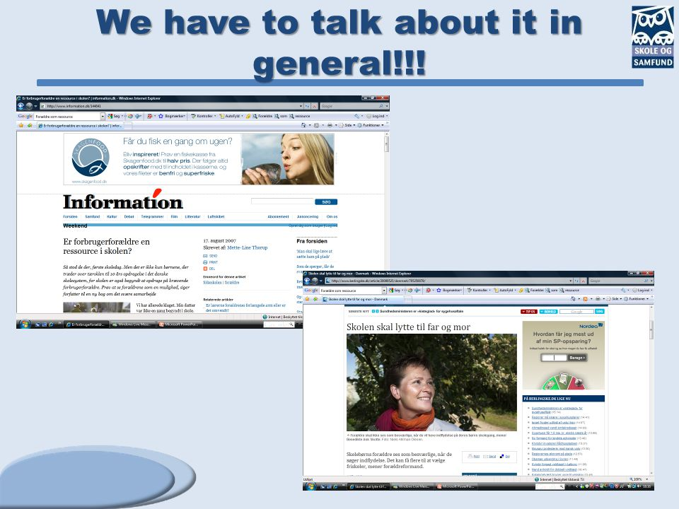 The idea is to give you... www.skole-samfund.dk