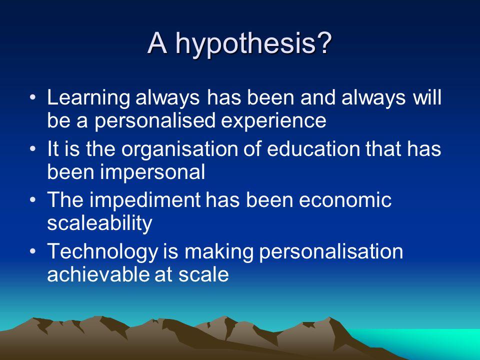 A hypothesis.