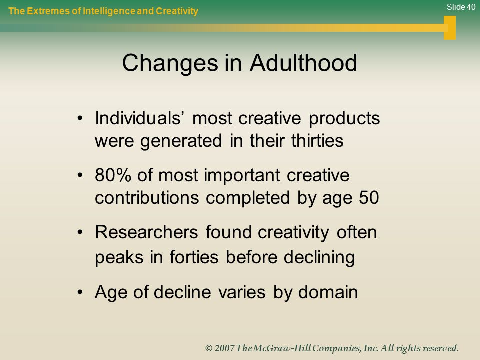 Slide 40 © 2007 The McGraw-Hill Companies, Inc.All rights reserved.