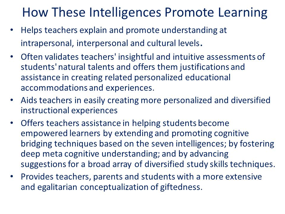 Helps teachers explain and promote understanding at intrapersonal, interpersonal and cultural levels. Often validates teachers' insightful and intuiti