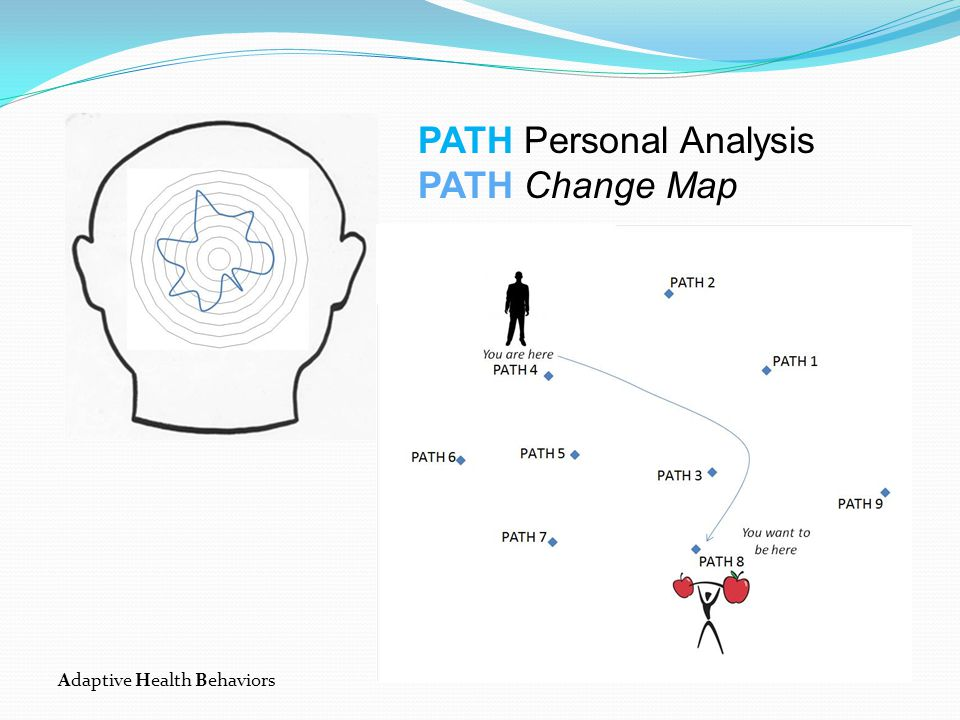 Adaptive Health Behaviors PATH Personal Analysis PATH Change Map Session 2 Map from dominant PATH to Optimal PATH for long-term health