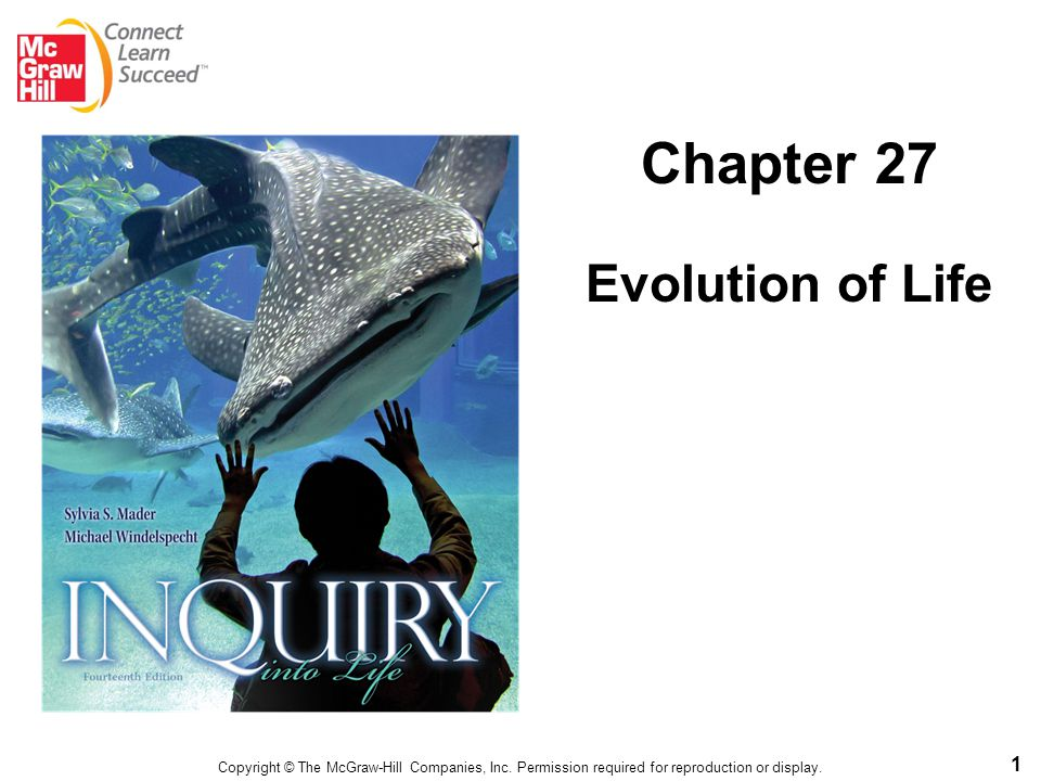 1 Chapter 27 Evolution of Life Copyright © The McGraw-Hill Companies, Inc. Permission required for reproduction or display.