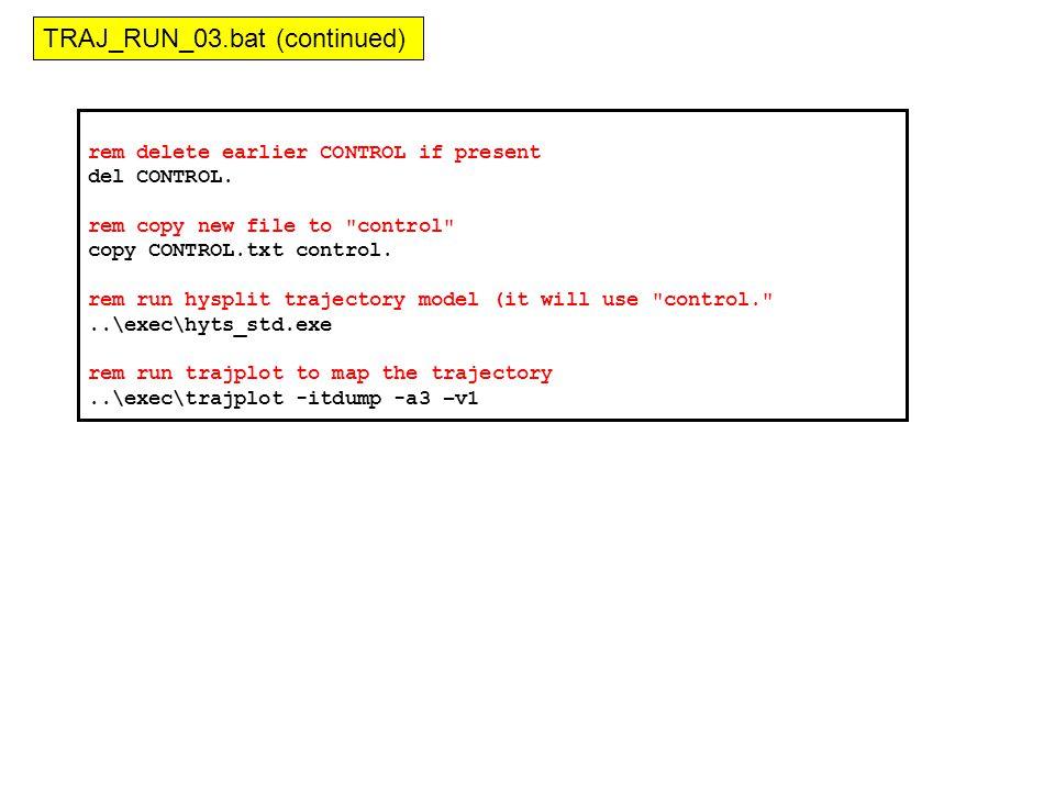 rem delete earlier CONTROL if present del CONTROL.