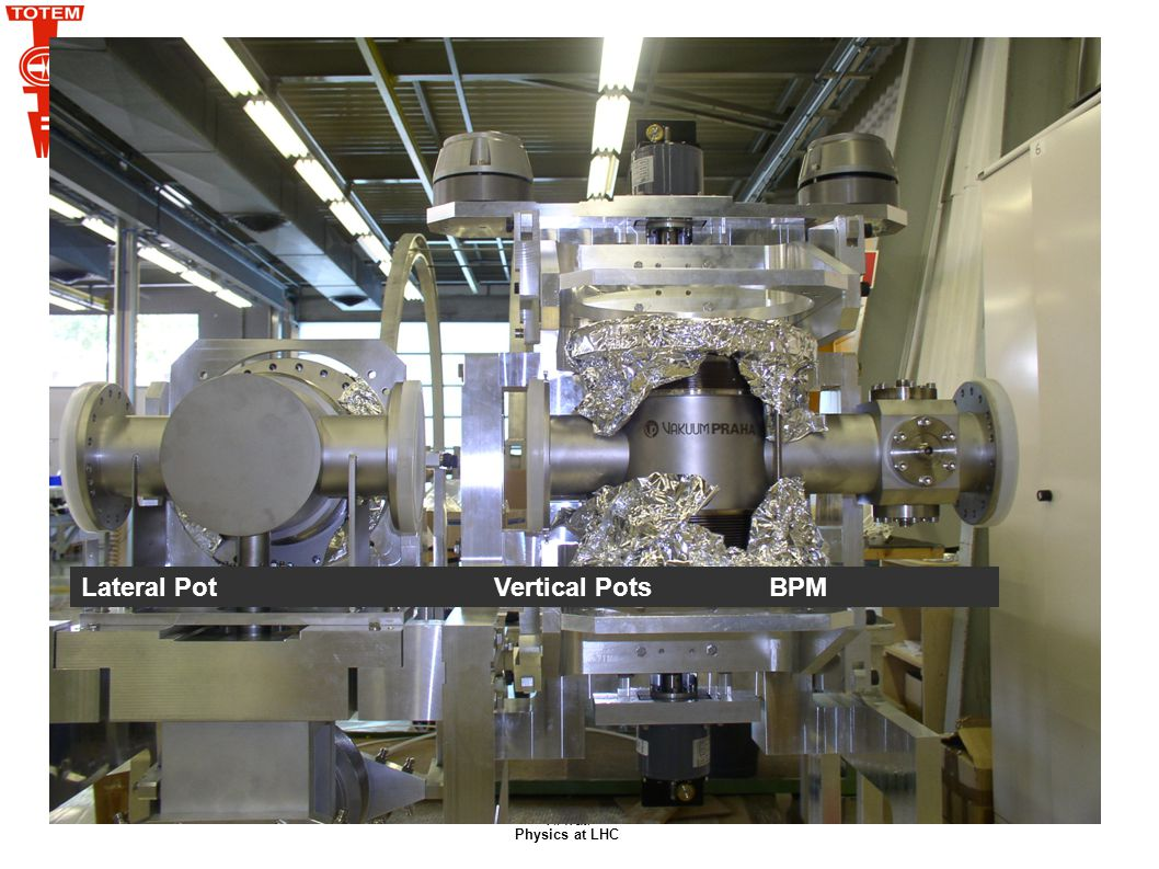 V.Avati Physics at LHC Lateral Pot Vertical Pots BPM