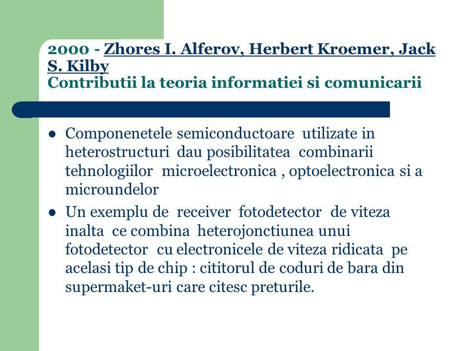 Componenetele semiconductoare utilizate in heterostructuri dau posibilitatea combinarii tehnologiilor microelectronica, optoelectronica si a microundelor Un exemplu de receiver fotodetector de viteza inalta ce combina heterojonctiunea unui fotodetector cu electronicele de viteza ridicata pe acelasi tip de chip : cititorul de coduri de bara din supermaket-uri care citesc preturile.