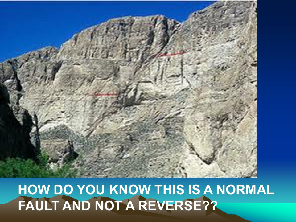 HOW DO YOU KNOW THIS IS A NORMAL FAULT AND NOT A REVERSE