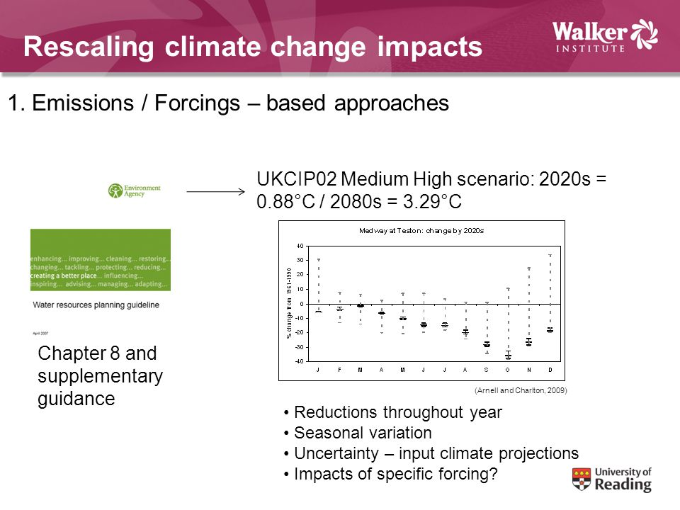 Rescaling climate change impacts 1.