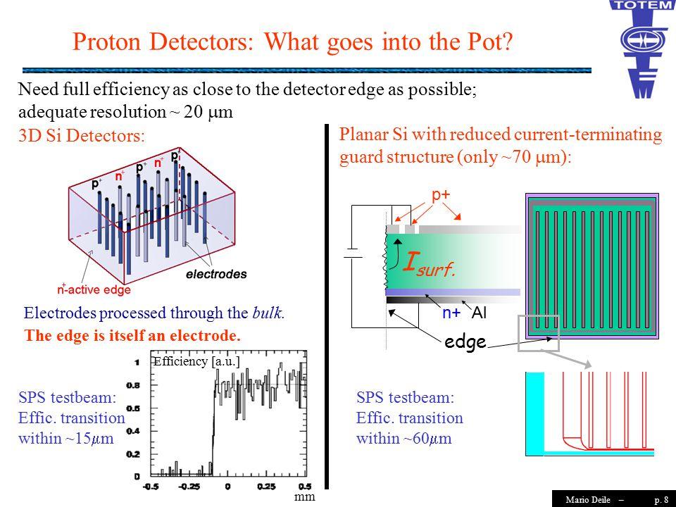 p. 8Mario Deile – Proton Detectors: What goes into the Pot.
